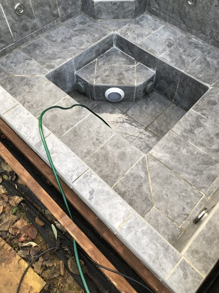 Filling the Hot Tub