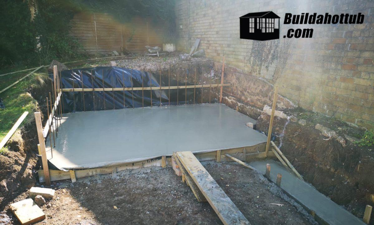 Hot Tub Concrete Base