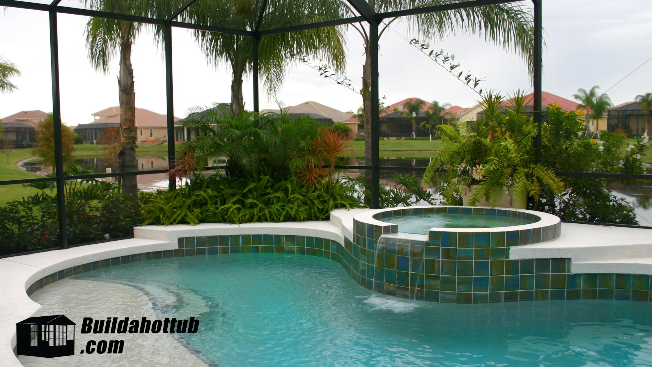 Hot Tub In Swimming Pool