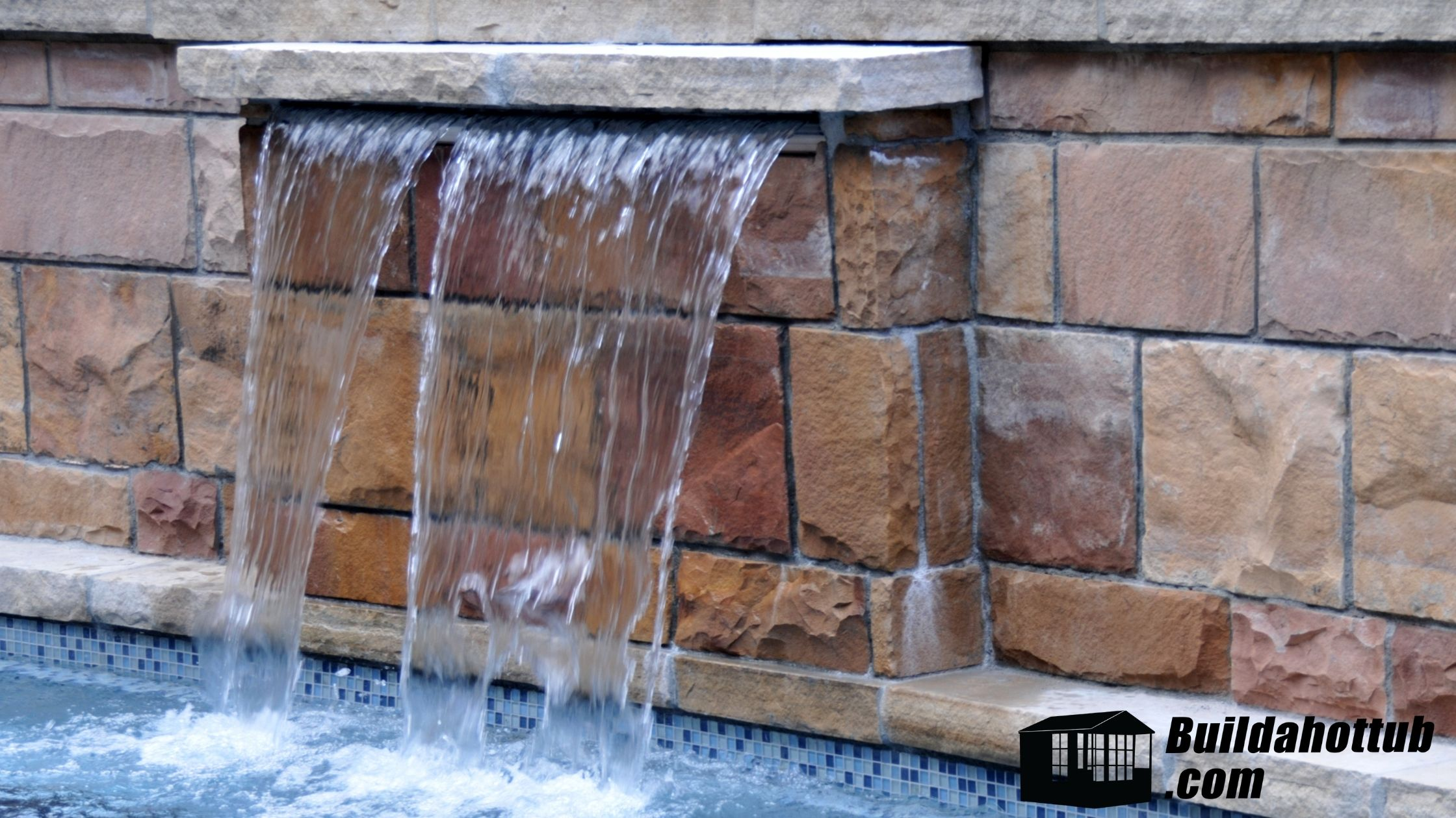 Water Feature Hot Tub
